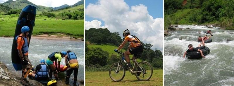 Outros esportes menos arriscados: acquaride, mountain bike e boia-cross