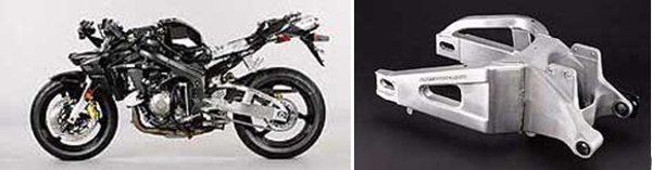 O quadro proporciona controle total da moto