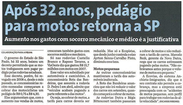 A ilegal cobrança de pedágio no Estado de São Paulo: onde está a