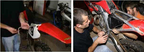 Amortecedor traseiro CR250 2003 Desmontagem e inspeção