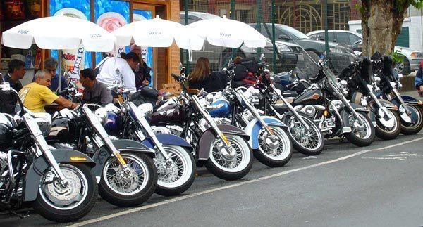 Andamos nas novas Harley Davidson 2007