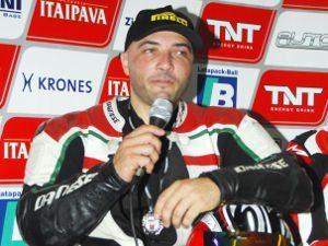 Foto: Fernando Tomilheiro, durante entrevista coletiva no SBK Series