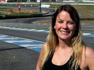 Foto: Tatiane Berger, piloto da categoria 600 Hornet (Honda) no Racing Festival