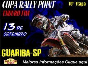 COPA RALLY POINT DE ENDURO FIM EM GUARIBA - 10º ETAPA