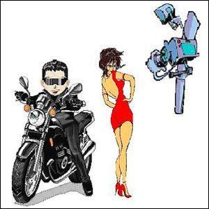Cuidado com garupa na moto...