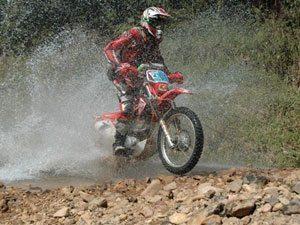 Foto: Dário Júlio, piloto do Team Honda