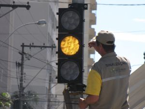 Foto: Semáforo instalado