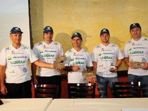 Equipe Petrobras Lubrax comemora resultados do Rally Dakar 2011