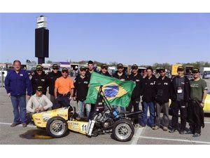 Foto: Em maio deste ano, a equipe da FEI figurou entre as 10 primeiras colocadas durante a Fórmula SAE Michigan, realizada nos Estados Unidos