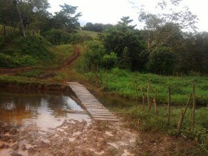 Foto: Divulgação TCBA - Trecho onde foi preciso construir uma ponte
