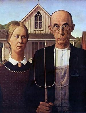 1928 grant wood american gothic