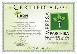 """Honda recebe certificado e selo de """"Empresa Parceira da Natureza"""""""