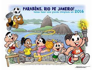 Maurício de Souza e a Turma da Mônica parabenizam o Rio de Janeiro