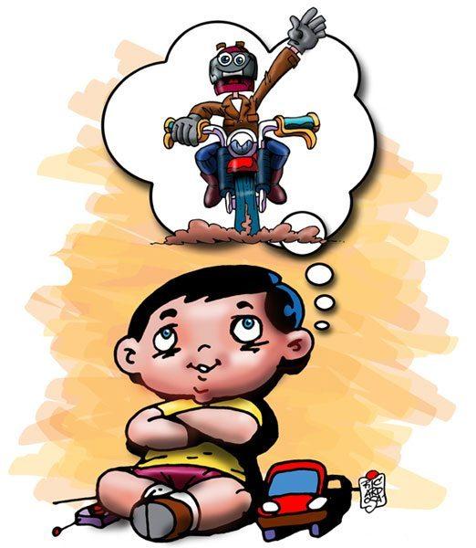 O Menino e a moto