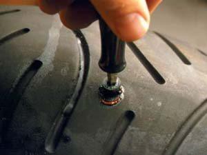 Foto: Plug no pneu - Bitenca