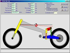 Foto: Tony Foale Motorcycle frame analysis software.