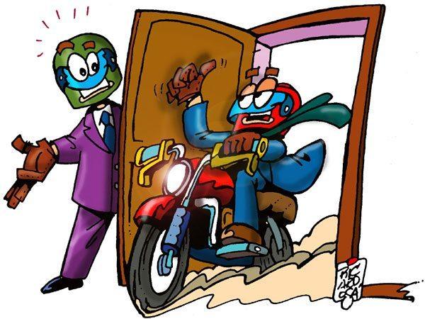 Quando a moto abre portas