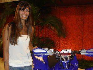 Foto: Mariana Veiga iniciou carreira entre os quadriciclos, no Rally Barretos de 2007