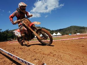 "Foto: Rodrigo ""Lama"", piloto do Team Honda na categoria MXJr"
