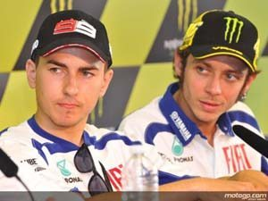 Foto: Lorenzo and Pedrosa at the press conference after the QP in Le Mans