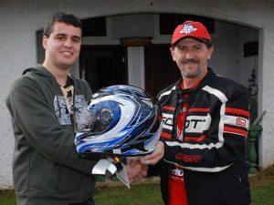 Foto: Rovcan enviou 3 capacetes para sorteio entre os Motonliners presentes