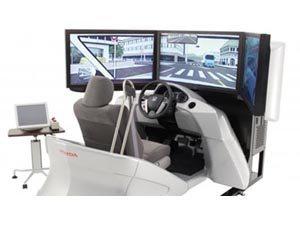 Simulador de direção da Honda