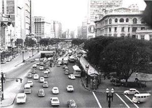 Em 1970, o Vale do Anhangabaú