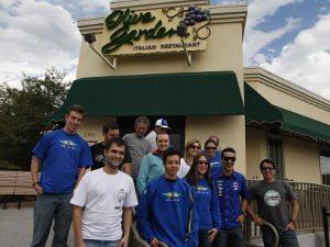 Foto: Delegação brasileira após almoço em Lakewood