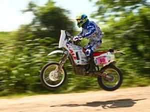 Tiago Fantozzi é o melhor brasileiro entre as motos no Rally Dakar