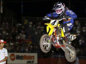 Foto: Guilherme Torres, piloto da categoria 50cc