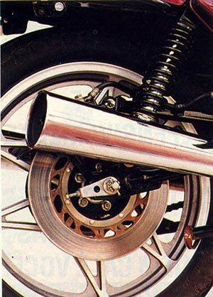 CB 450: freio traseiro