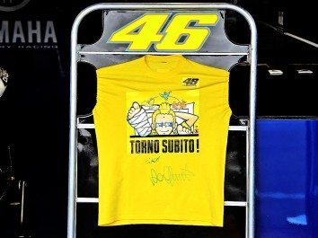 Valentino Rossi testa hoje em Mizano