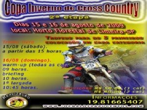 15 e 16 de agosto - 2ª Etapa da Copa Inverno de CrossCountry em Limeira
