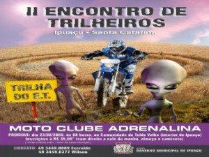 23 de agosto - II Encontro de Trilheiros em Ipuaçu – Santa Catarina