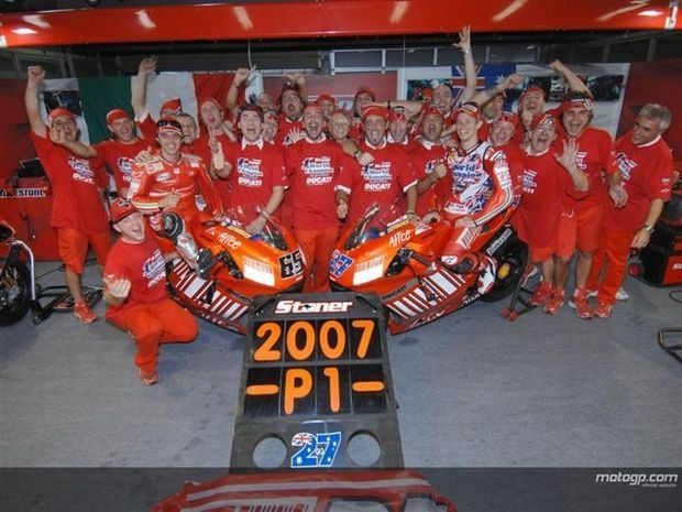 A gloriosa temporada 2007 da Ducati
