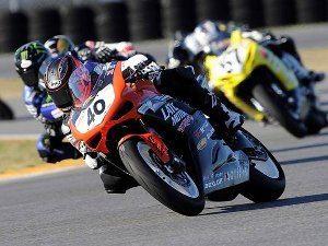 Jason DiSalvo comemora sua primeira vitória na Daytona 200