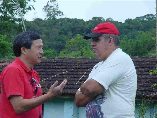 Foto: Harada e Junior na Pista do AlemÆo