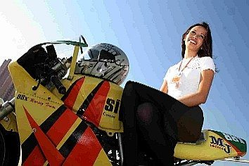 Foto: Michele compete na categoria 250cc