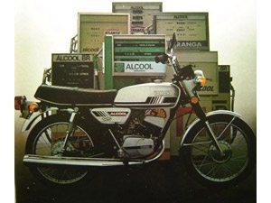 Foto: Antiga RX 125 a lcool