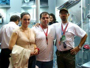 Foto: Alides, Andr' Garcia e Tite no salÆo
