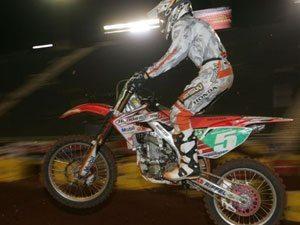 Foto: Wellington Garcia, piloto da SX1 do Team Honda no Supercross