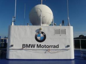 Navio com o visual da BMW Motorrad