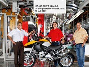 BMW R 1200 GS de número 100.000