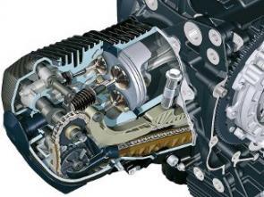 Novo cabeçote herdado da HP2 tem duplo comando de válvulas e quatro válvulas por cilindro