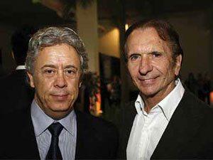 Foto: Emerson Fittipaldi e Alberto Pellegrini organizam o Salão da Motocicleta