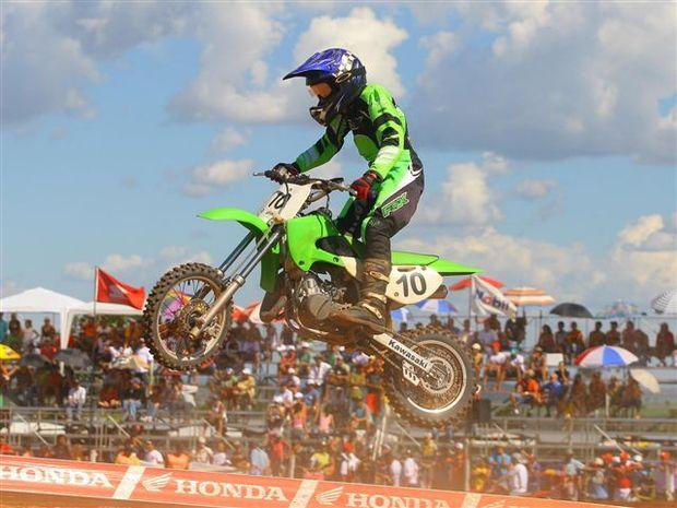 Foto: Gustavo Roratto, piloto da 65cc do Brasileiro de Motocross