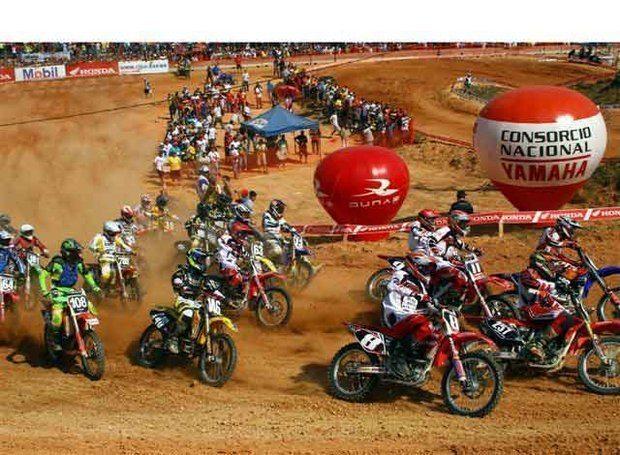 Foto: Gustavo Takahashi, piloto da 85cc do Brasileiro de Motocross