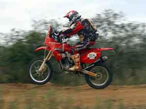 Foto: Jos' H'lio, piloto do Rally Internacional dos Sertäes