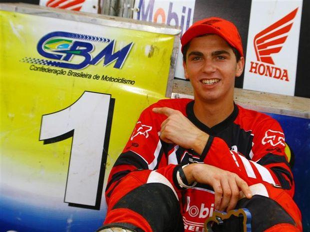 Foto: Leandro Silva, piloto da MX2 no Brasileiro de Motocross