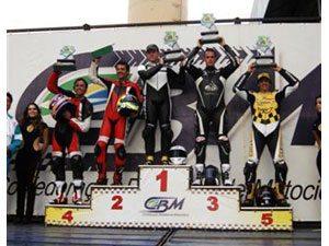 Foto: Chofard foi para o ponto mais alto do pódio na sua volta na Superbike